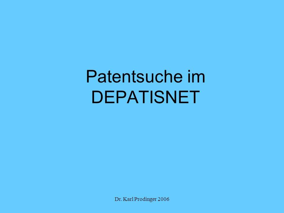 Patentsuche im DEPATISNET