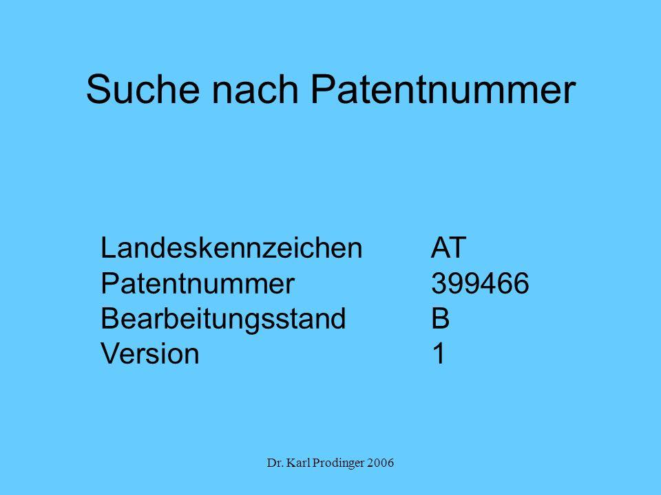 Suche nach Patentnummer