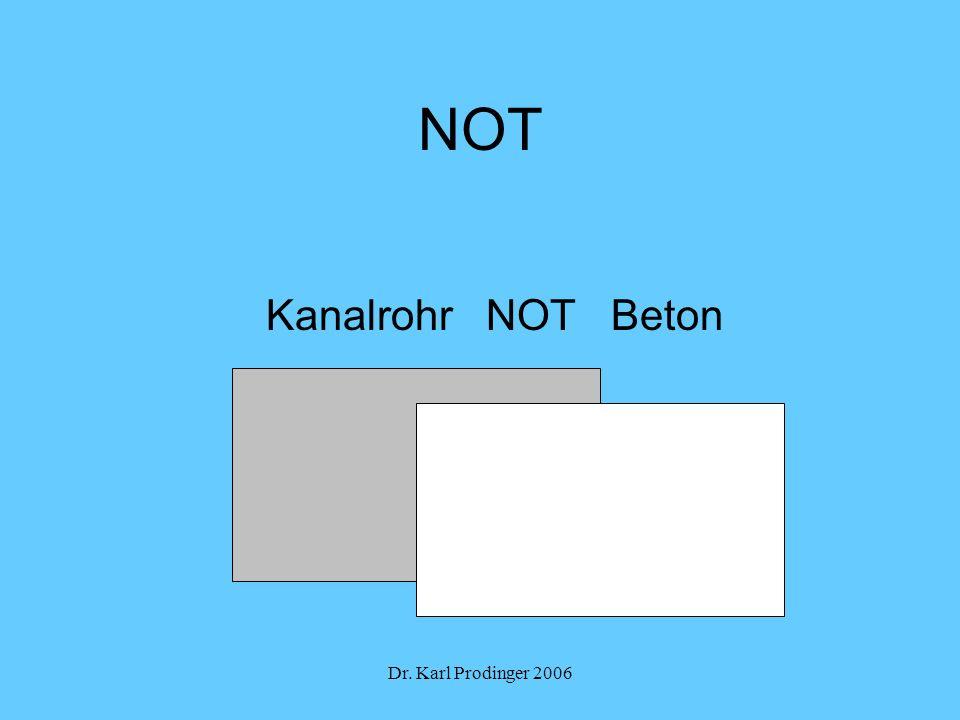 NOT Kanalrohr NOT Beton Dr. Karl Prodinger 2006