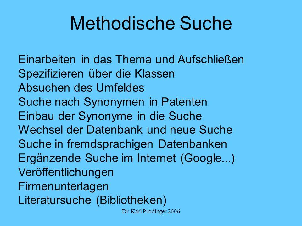 Methodische Suche Einarbeiten in das Thema und Aufschließen