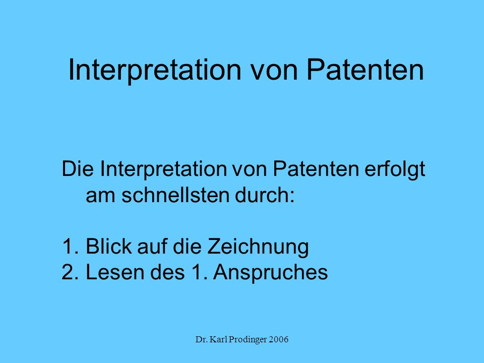 Interpretation von Patenten