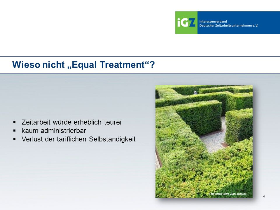 "Wieso nicht ""Equal Treatment"