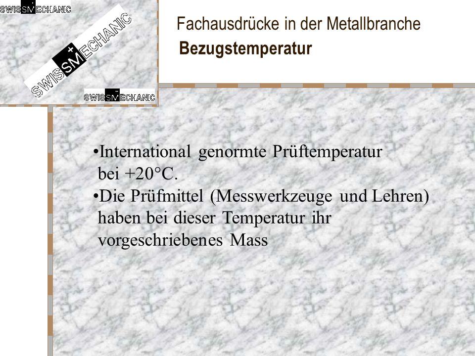 Bezugstemperatur International genormte Prüftemperatur bei +20°C.