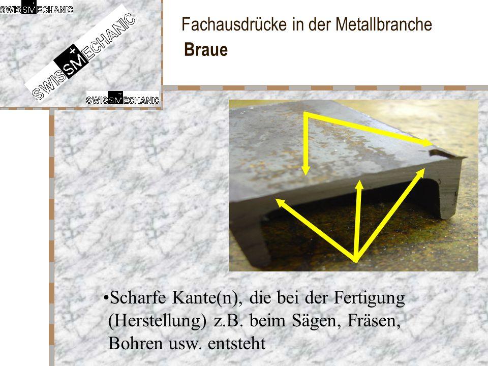 Braue Scharfe Kante(n), die bei der Fertigung (Herstellung) z.B.
