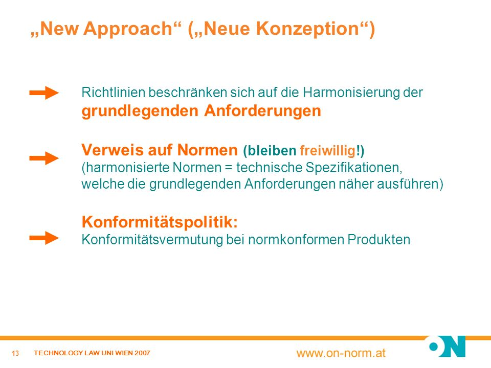"""New Approach (""Neue Konzeption )"