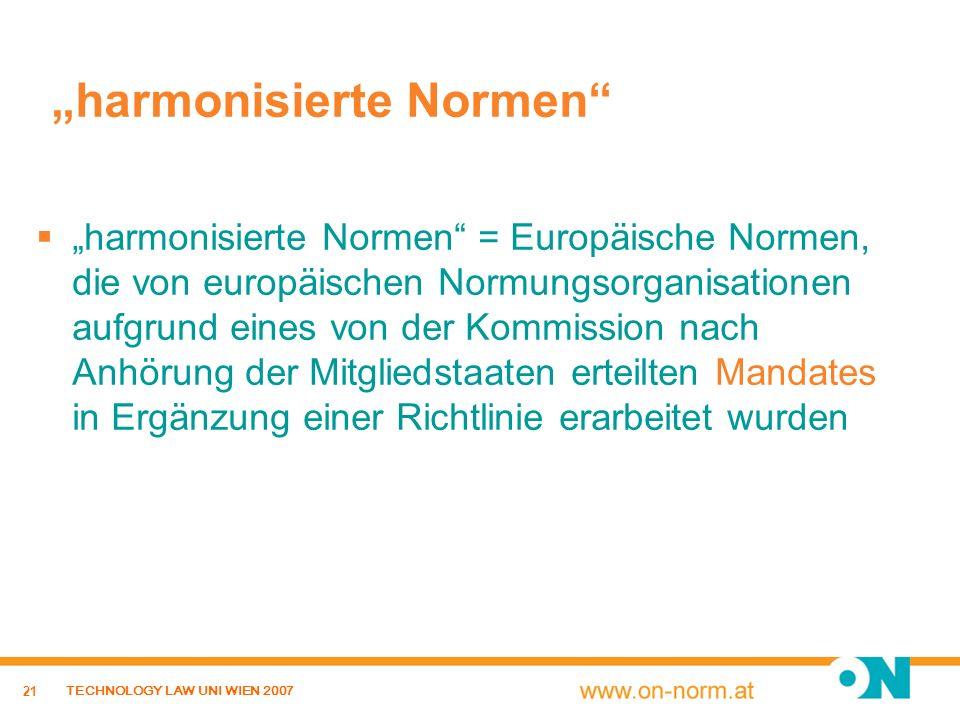 """harmonisierte Normen"