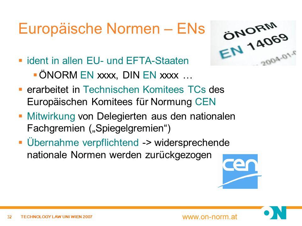 Europäische Normen – ENs