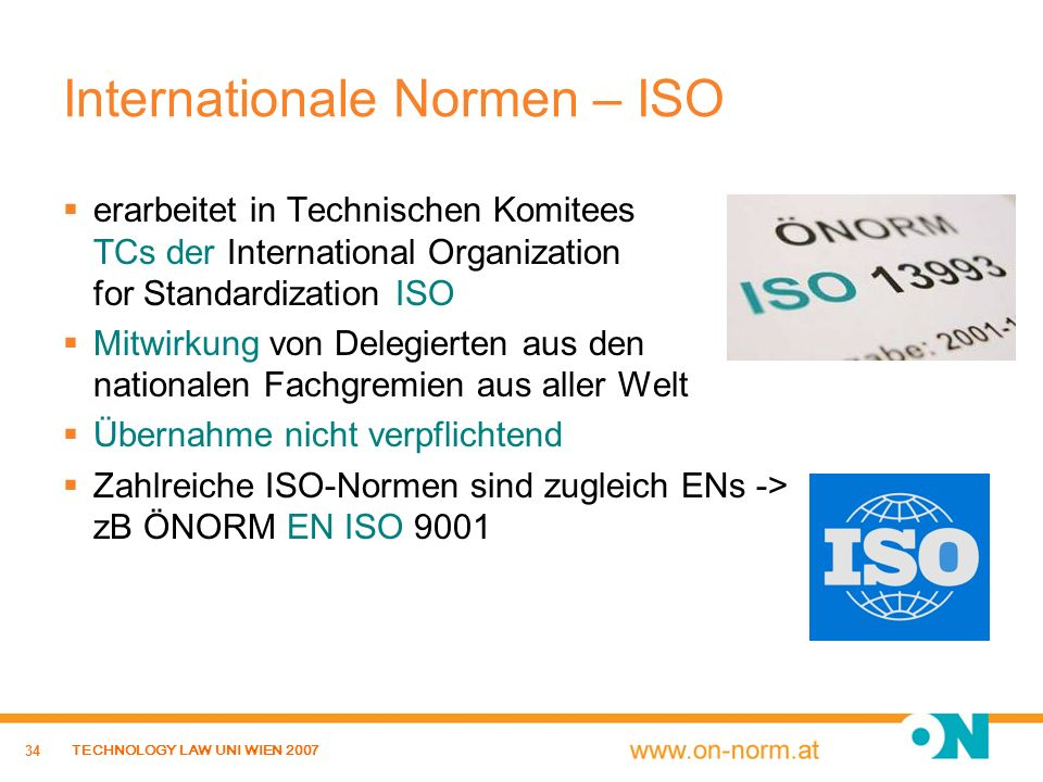 Internationale Normen – ISO
