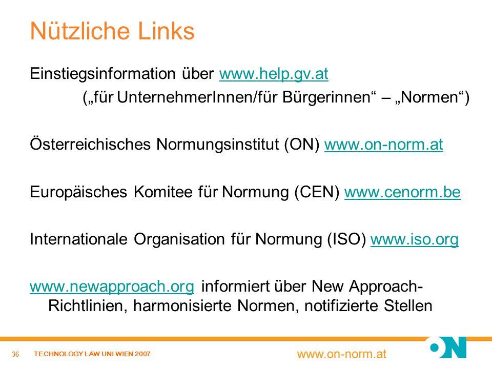 Nützliche Links Einstiegsinformation über www.help.gv.at