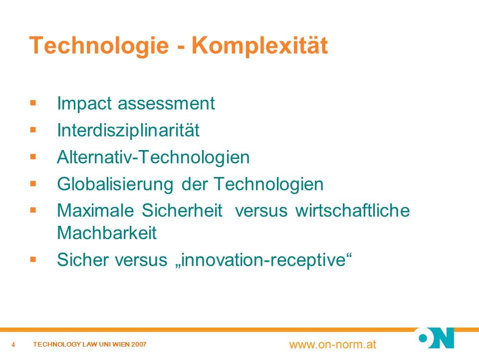 Technologie - Komplexität