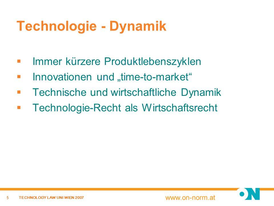 Technologie - Dynamik Immer kürzere Produktlebenszyklen