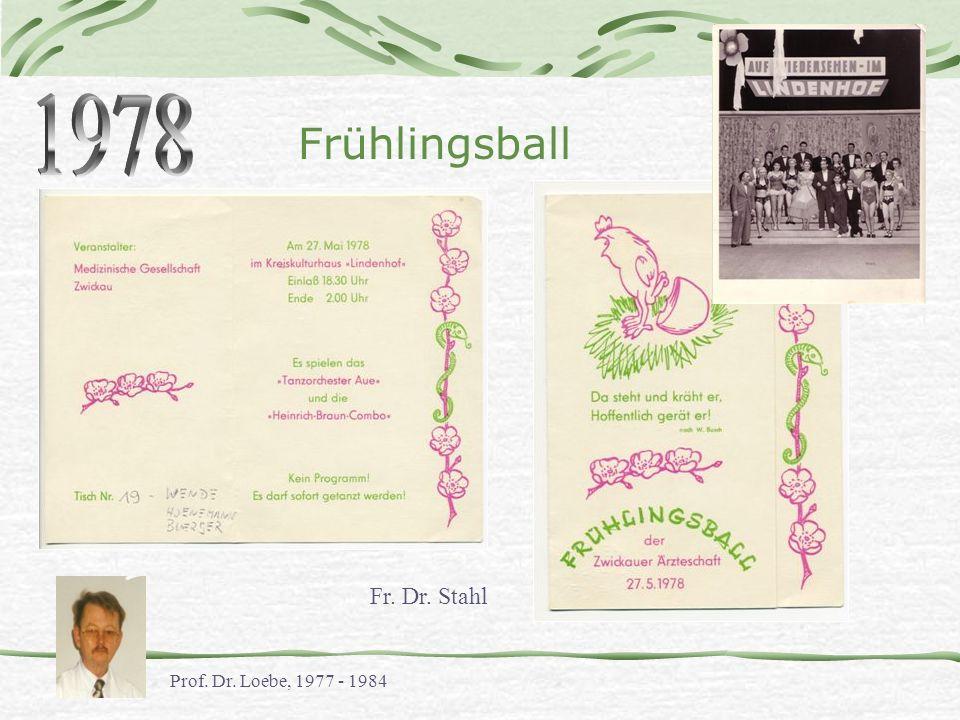 1978 Frühlingsball Fr. Dr. Stahl Prof. Dr. Loebe, 1977 - 1984