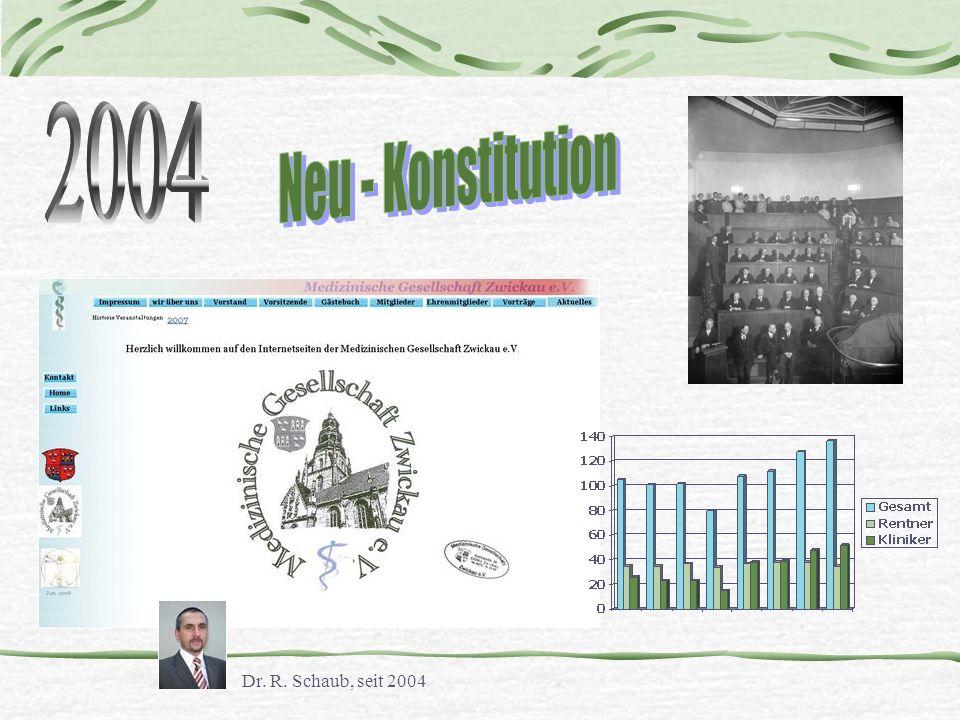 2004 Neu - Konstitution Dr. R. Schaub, seit 2004
