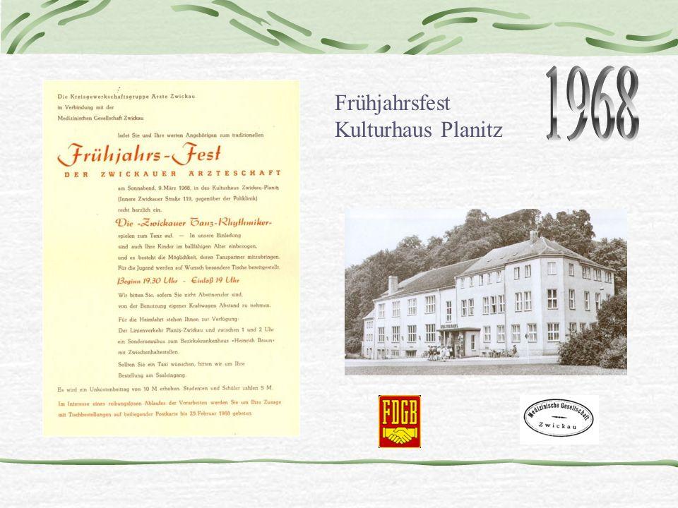 1968 Frühjahrsfest Kulturhaus Planitz