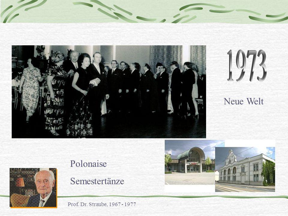 1973 Neue Welt Polonaise Semestertänze Prof. Dr. Straube, 1967 - 1977
