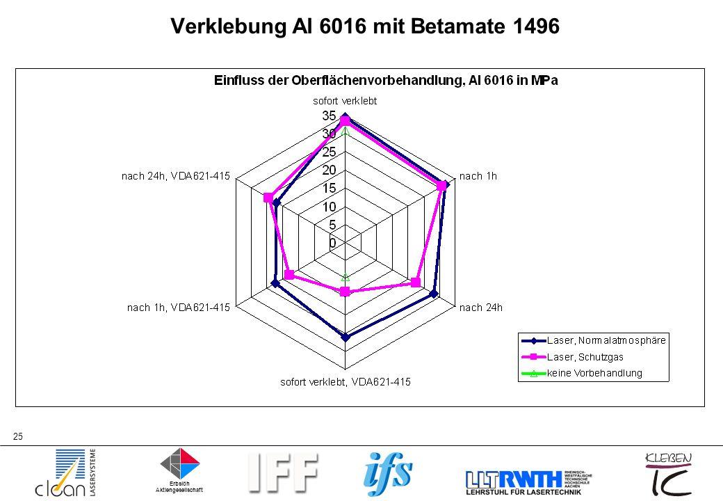Verklebung Al 6016 mit Betamate 1496