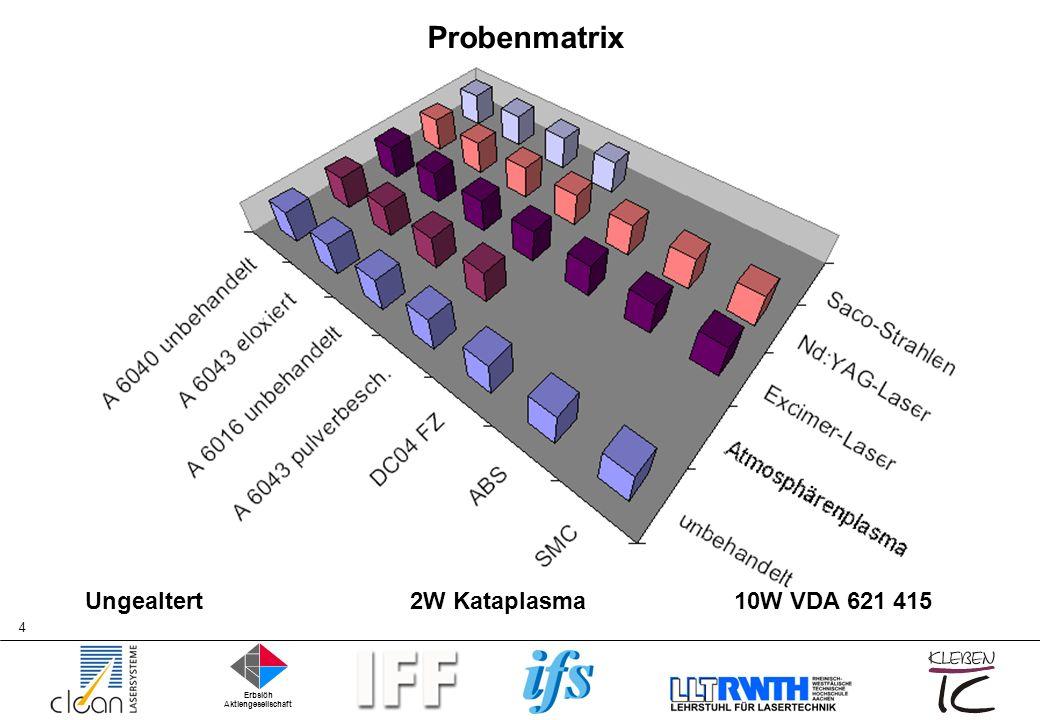 ProbenmatrixUngealtert 2W Kataplasma 10W VDA 621 415.