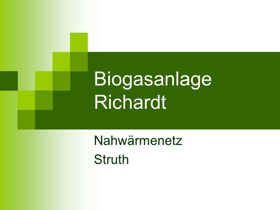 Biogasanlage Richardt