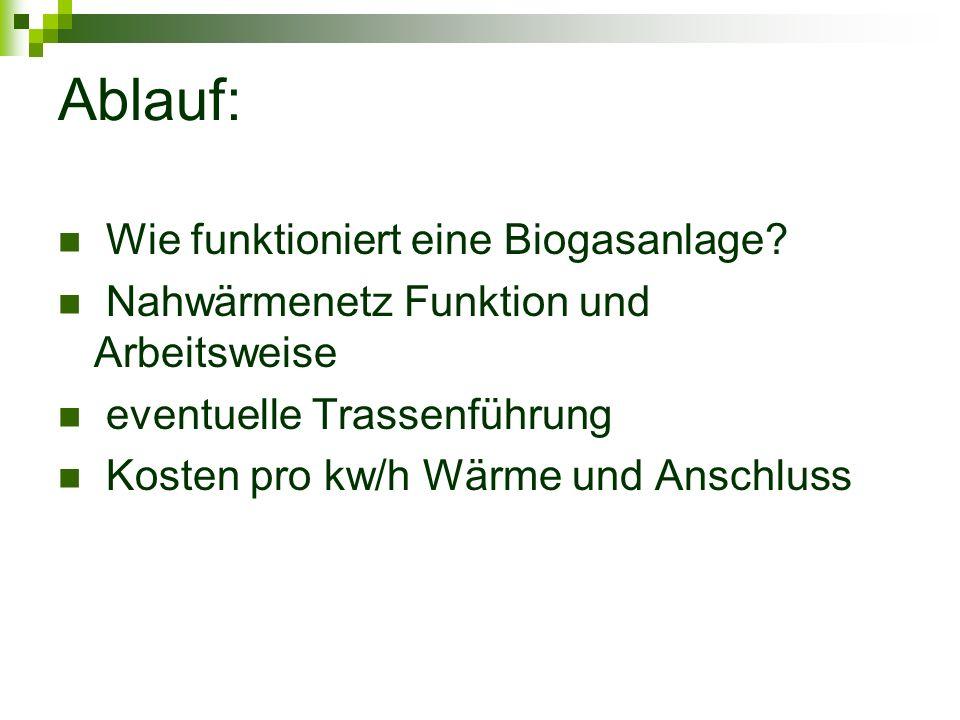 Ablauf: Wie funktioniert eine Biogasanlage