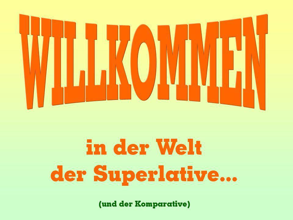 WILLKOMMEN in der Welt der Superlative... (und der Komparative)