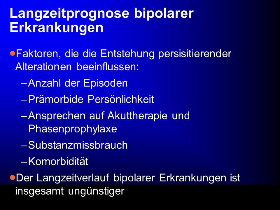 Langzeitprognose bipolarer Erkrankungen