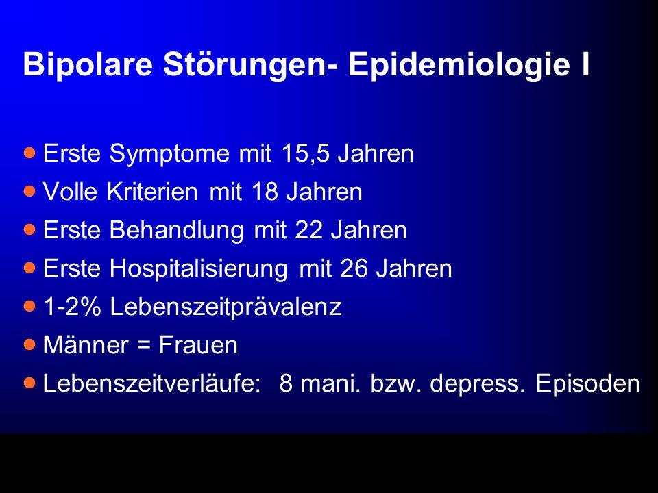 Bipolare Störungen- Epidemiologie I