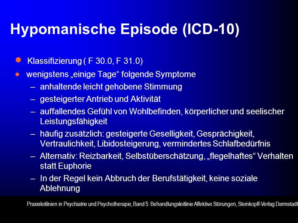 Hypomanische Episode (ICD-10)