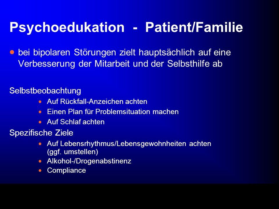 Psychoedukation - Patient/Familie