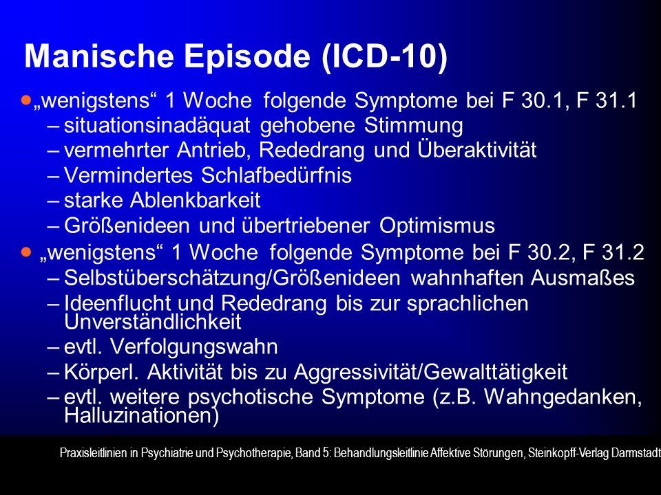Manische Episode (ICD-10)