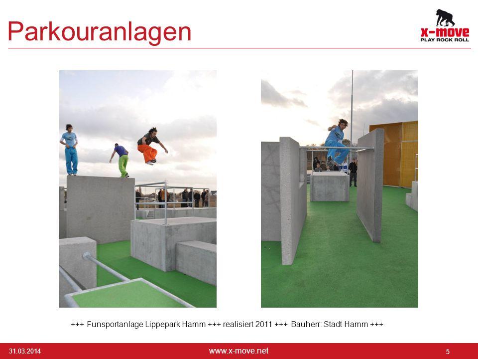 Parkouranlagen +++ Funsportanlage Lippepark Hamm +++ realisiert 2011 +++ Bauherr: Stadt Hamm +++ 28.03.2017.