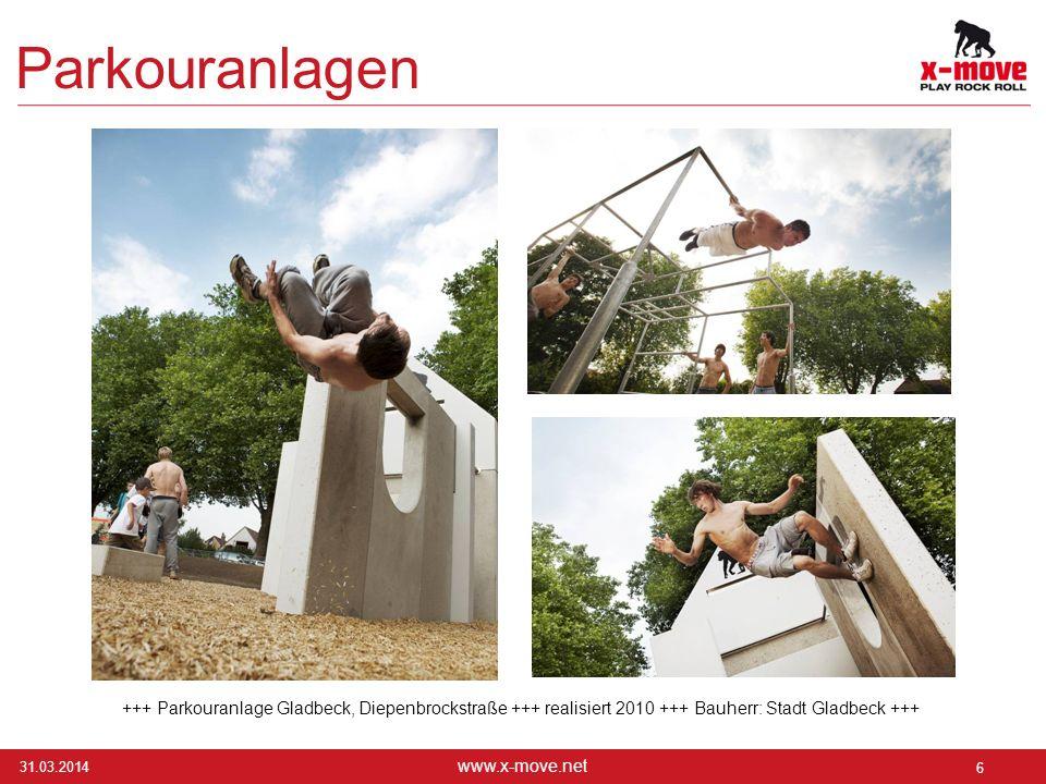 Parkouranlagen +++ Parkouranlage Gladbeck, Diepenbrockstraße +++ realisiert 2010 +++ Bauherr: Stadt Gladbeck +++