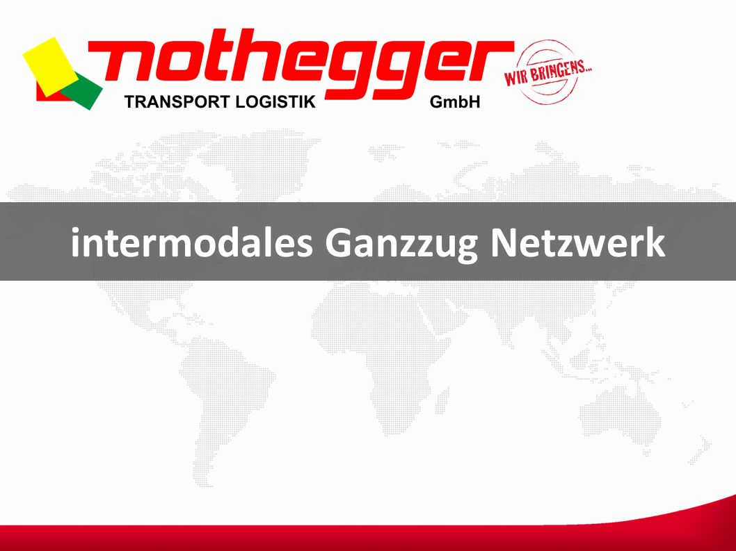 intermodales Ganzzug Netzwerk