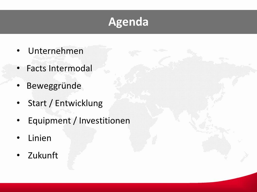 Agenda Unternehmen Facts Intermodal Beweggründe Start / Entwicklung