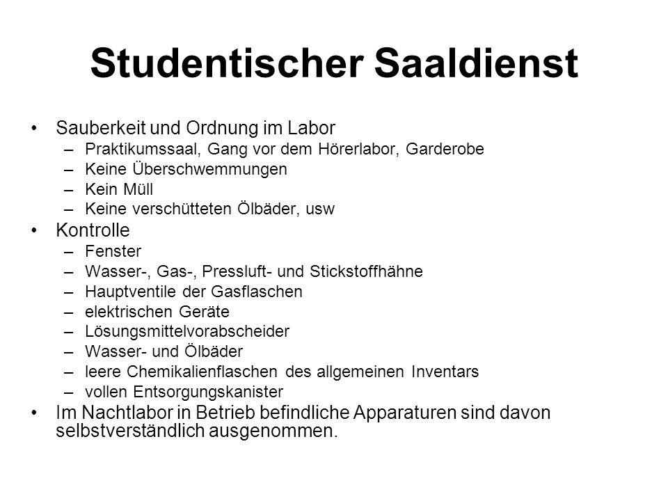 Studentischer Saaldienst