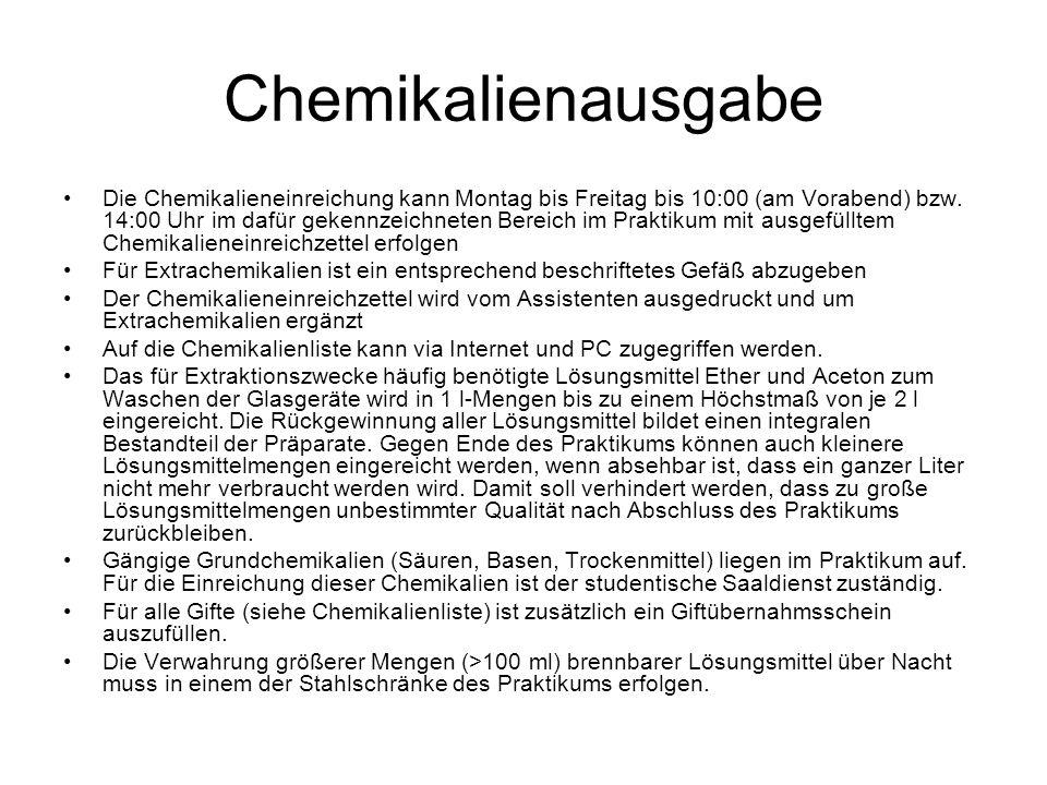 Chemikalienausgabe