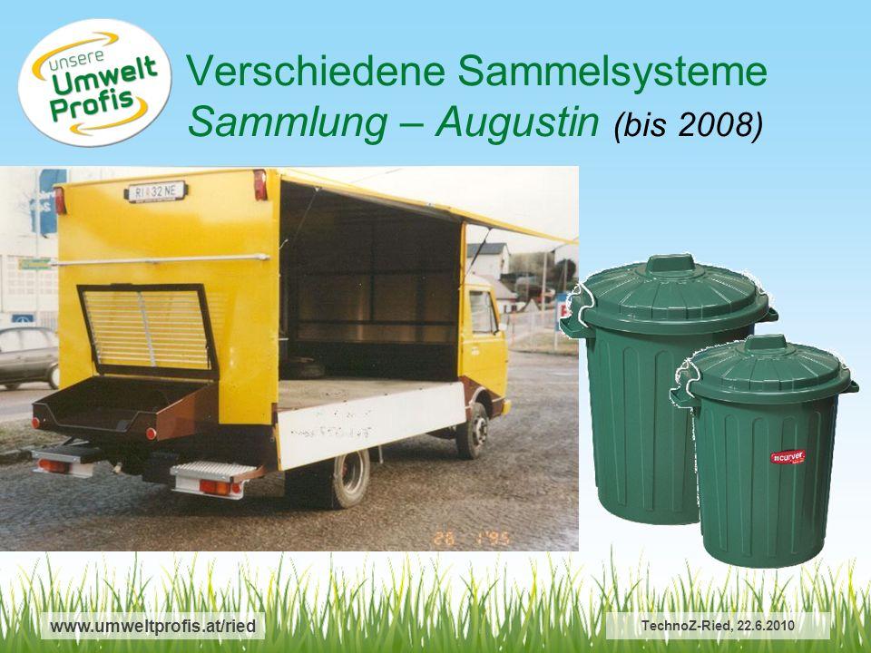 Verschiedene Sammelsysteme Sammlung – Augustin (bis 2008)