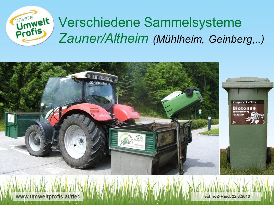 Verschiedene Sammelsysteme Zauner/Altheim (Mühlheim, Geinberg,..)