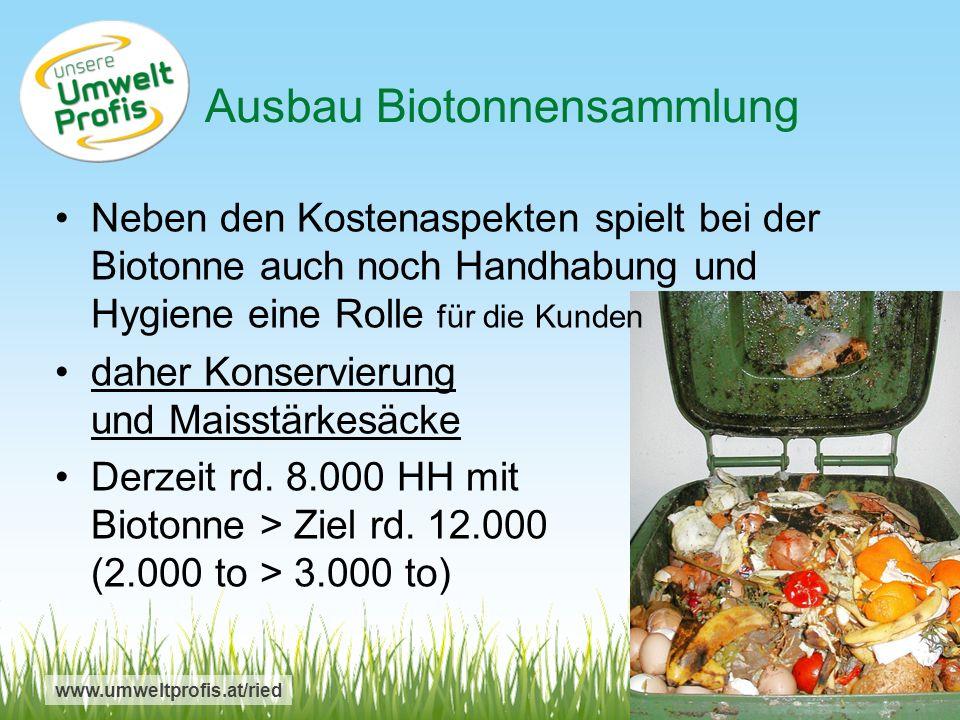 Ausbau Biotonnensammlung