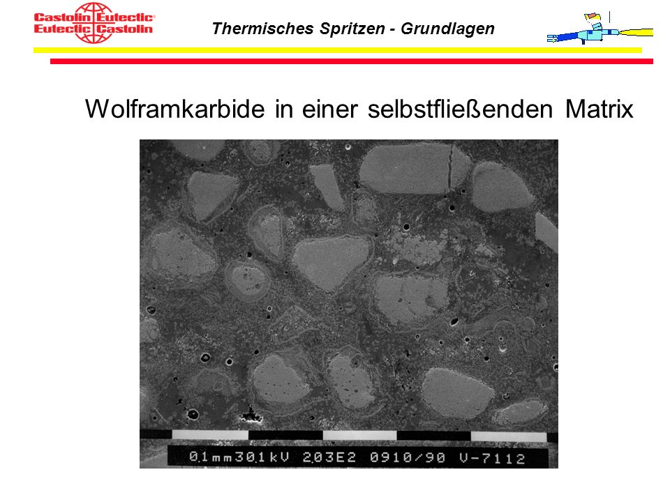 Wolframkarbide in einer selbstfließenden Matrix