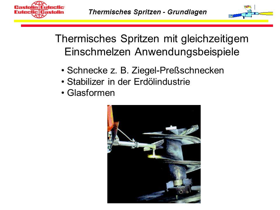 Thermisches Spritzen mit gleichzeitigem Einschmelzen Anwendungsbeispiele
