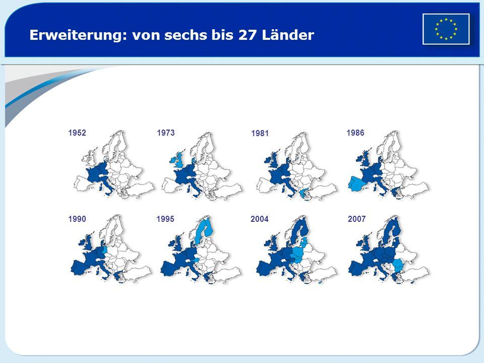 Erweiterung: von sechs bis 27 Länder