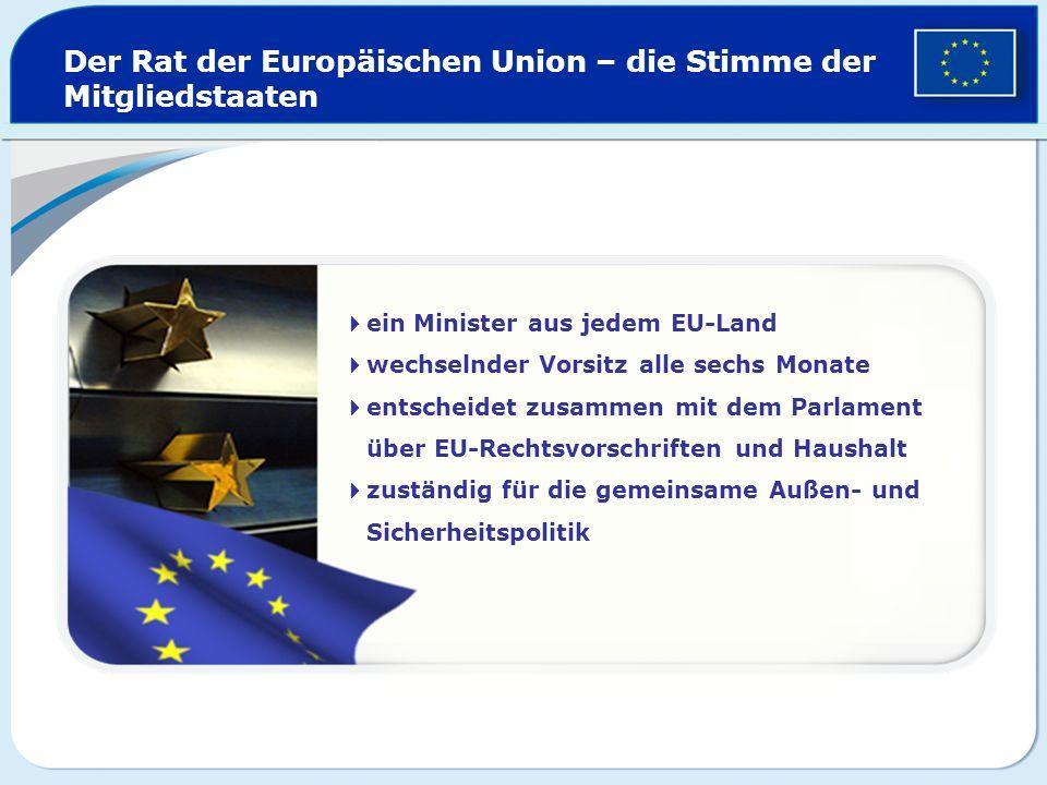 Der Rat der Europäischen Union – die Stimme der Mitgliedstaaten
