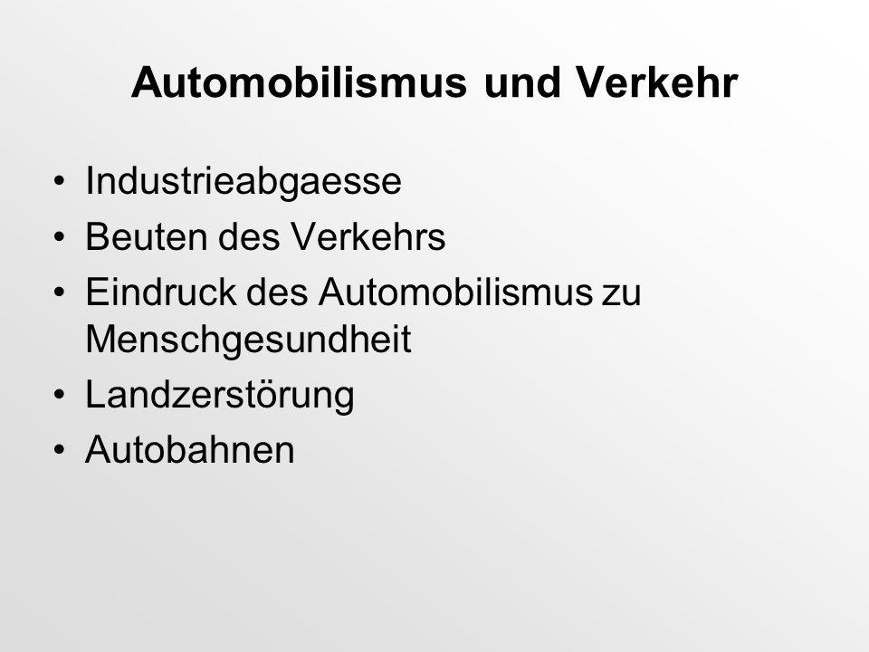 Automobilismus und Verkehr