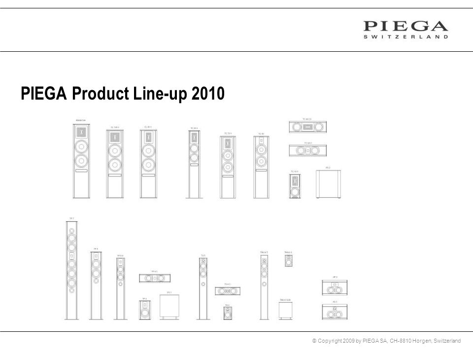 PIEGA Product Line-up 2010