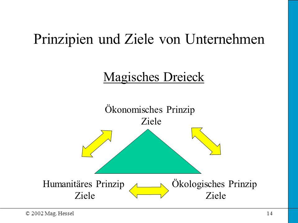 Prinzipien und Ziele von Unternehmen