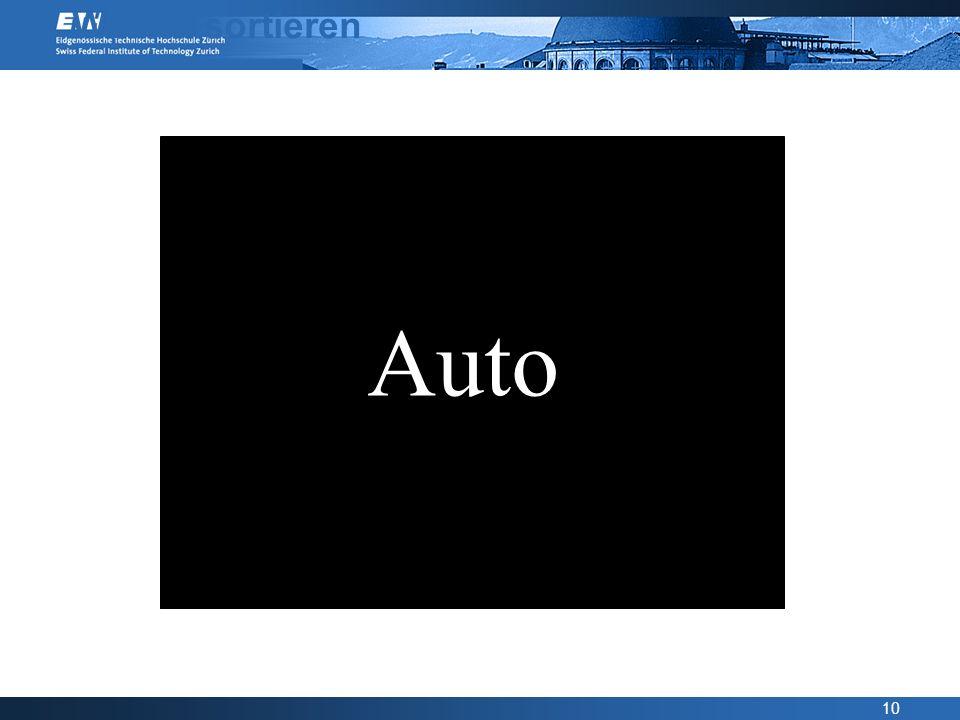 Wörter sortieren Auto