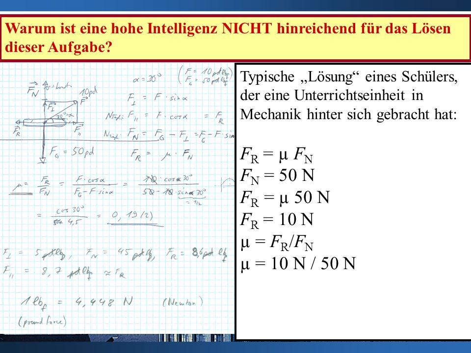 FR = µ FN FN = 50 N FR = µ 50 N FR = 10 N µ = FR/FN µ = 10 N / 50 N