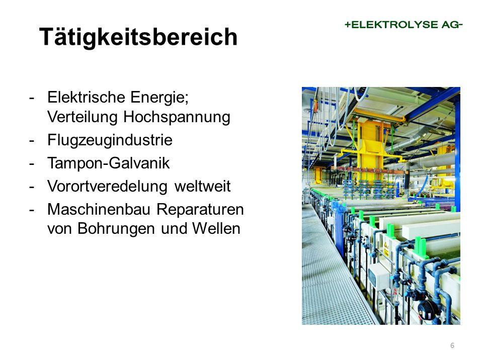 Tätigkeitsbereich Elektrische Energie; Verteilung Hochspannung