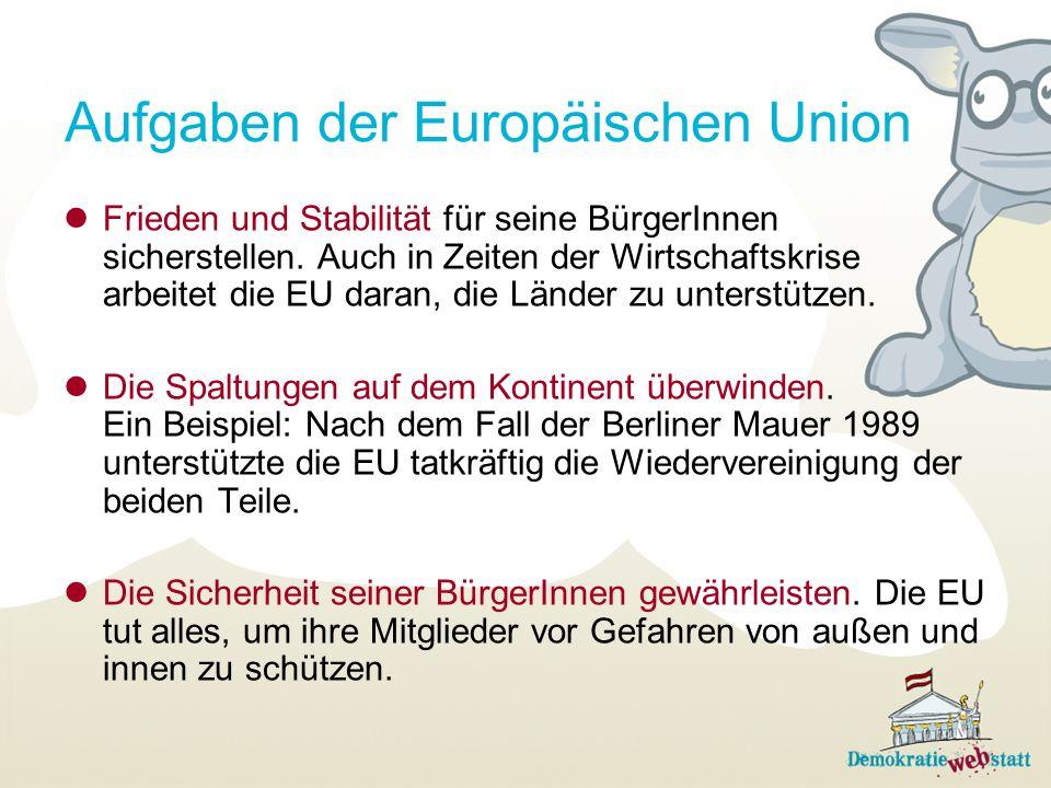 Aufgaben der Europäischen Union