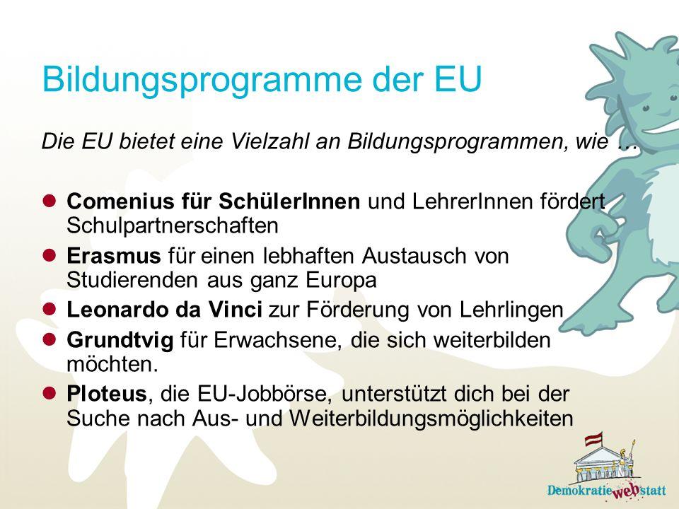 Bildungsprogramme der EU